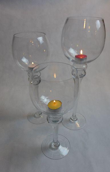 Kerzenhalter aus Glas im 3er Set - Geschenkidee - von Colmado Geschenke Shop auf DaWanda.com