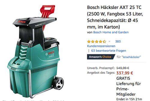 Bosch Hacksler Axt 25 Tc 2500 W Max O 45 Mm Bosch Haus Und Garten Axt