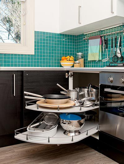 I Love This Corner Cabinet Solution From Ikea Kitchen   Ikea Storage Kitchen  Solutions .