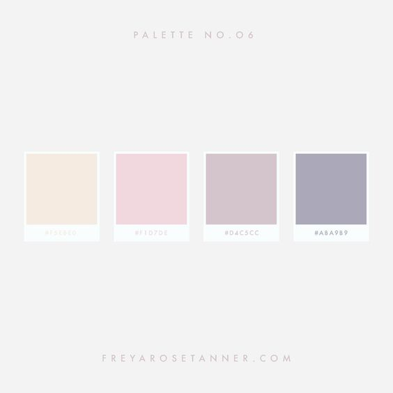 Purple cream and pink color palette by Freya Rose Tanner #lavender #blush #moave #cream #creamcolors #softtonedColourPalette #Feminine