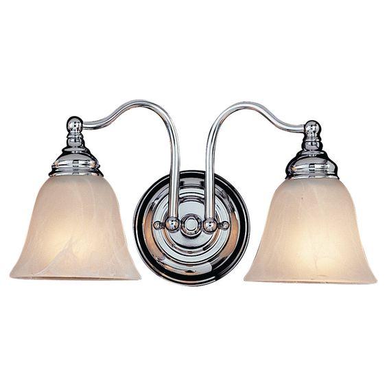 2 Bulb Chrome Vanity