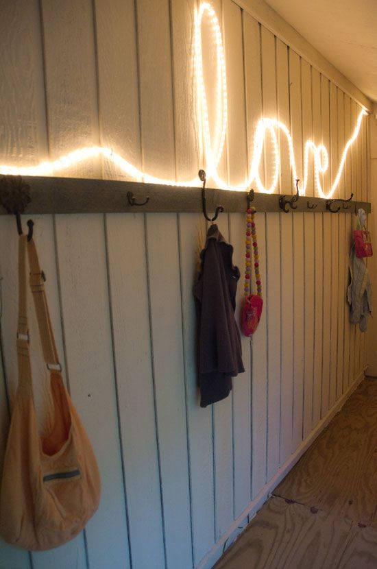 Rope Lighting Typography For A Rustic Wedding Party Decor Ideas Pinterest Typography