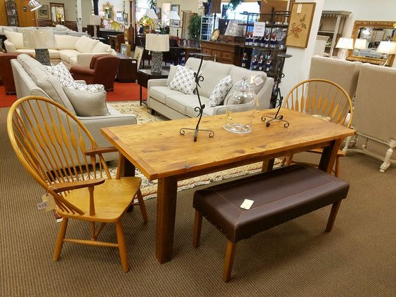 This reclaimed 7 ft barnwood farm table is just $895. #FarmhouseChic