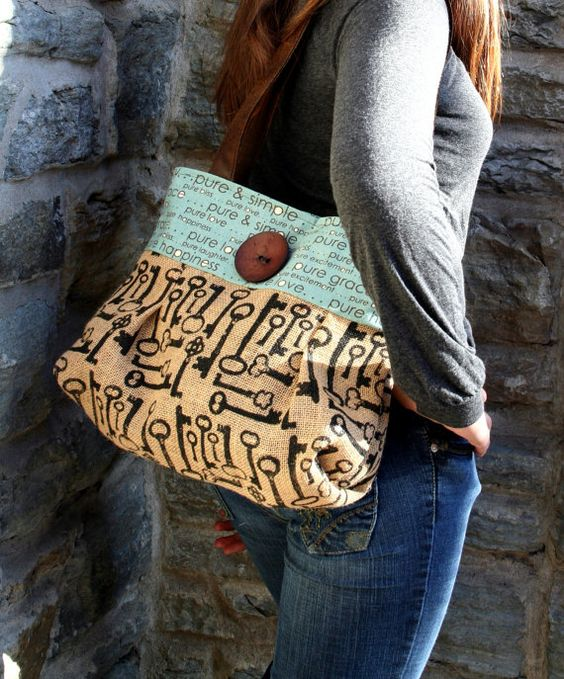 Handbag Purse Tote Skeleton Keys  Kingdom by cayennepeppybags, $70.00