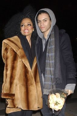 Diana Ross and her son, Evan
