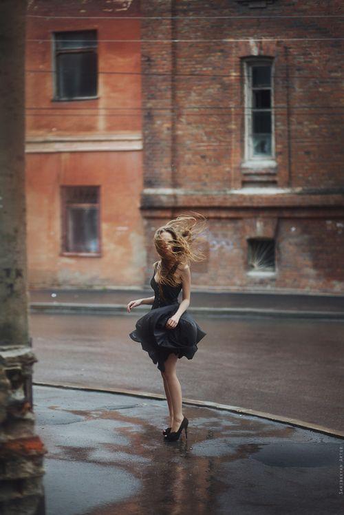 Blowing dress