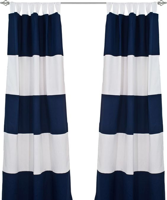 Stripe Rod Pocket Curtain Panel