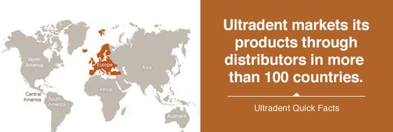 Ultradent markets its products through distributors in more than 100 countries.   http://www.ultradent.com/en-us/about-ultradent/Pages/default.aspx?s_cid=755   www.netkaup.is