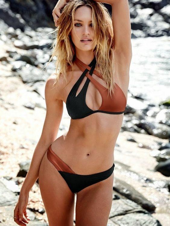 Damen Push Up Gepolstert Tankini Bikini Set Zweiteiligen Bademode Badeanzug DE