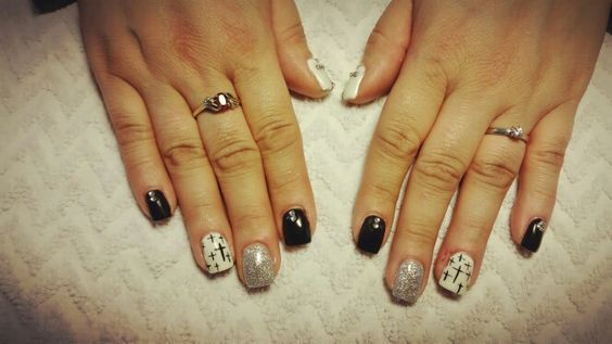 #lightelegance #blacktie #silversparkle #gel # JaclynDuff