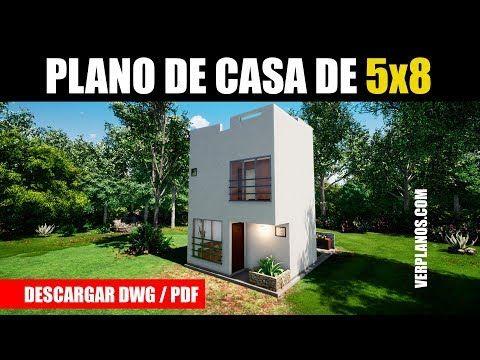 Planos De Casa Gratis 2 Pisos 2 Dormitorios Dwg Pdf Youtube Planos De Casas Planos De Casas Medidas Casas De Dos Pisos