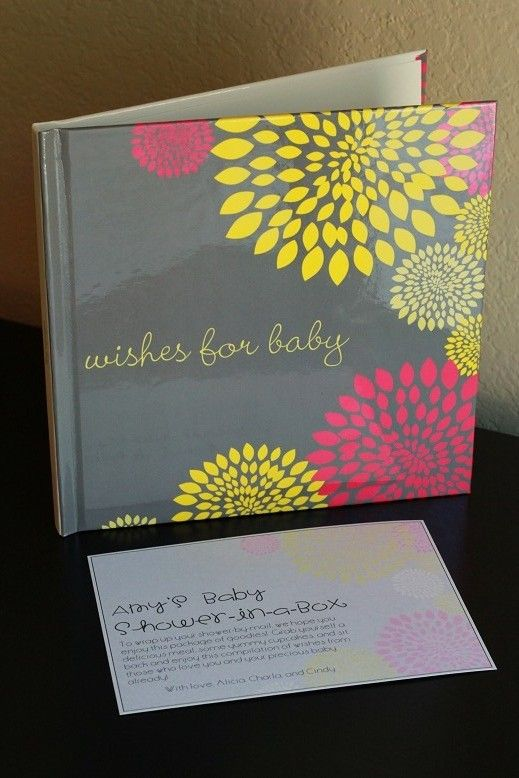 Baby Shower Through Mail ~ Tiny tidbits baby shower by mail party time gift