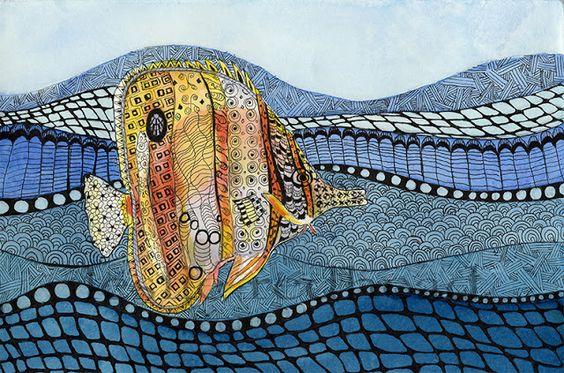 Leslie Redhead Fine Art: Zendoodling with Watercolor