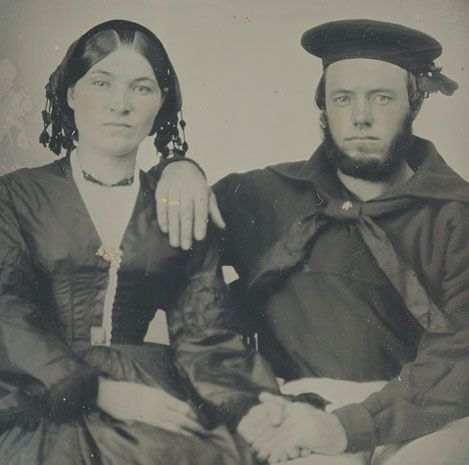 I love her 1850s double part. Also sailor photos are rarely seen. Such a lovely pose too.