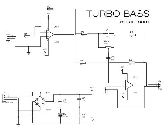 preamplifier loudness tda1524 bass treble layout circuit stereo rh pinterest pt Turbo Parts Diagram Turbocharger Schematic