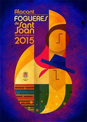 Carte Oficial Hogueras de San Juan 2015 / Fogueres de Sant Joan 2015 #Alicante #CostaBlanca #Fogueres2015