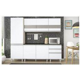 Cozinha Modulada Vicenza - Cor Branco/Elmo - Madine Móveis
