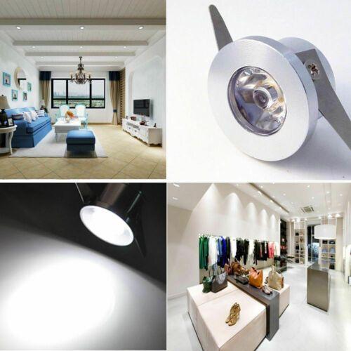 10x 1w Led Encastre Mini Spot Projecteur Lumiere Eclairage Maison Lampe Plafond Ebay Recessed Ceiling Lights Downlights Small Cabinet