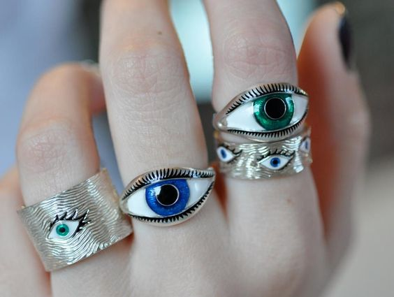 sterling and enamel eye story