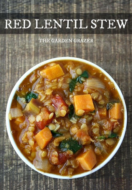 Easy, hearty red lentil stew spiked with cumin and smoked paprika. I ...