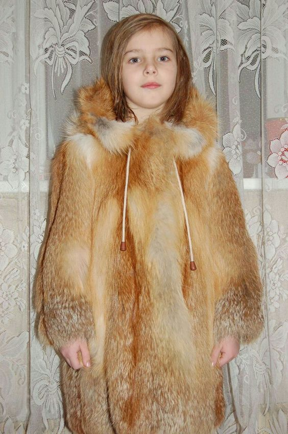Red fox fur coat for girls | Kids | Pinterest | Coats Fox fur