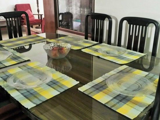 Table Mats Colorful Woven Yellow Placemats Kitchen Etsy Kitchen Placemats Yellow Placemats Indian Wall Decor