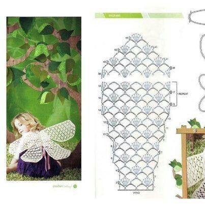 Crocheted wings