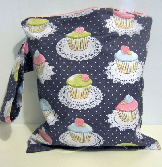 Wet Bag for cloth diapers, cosmetics, or toiletries by OffBeat Betty on Etsy