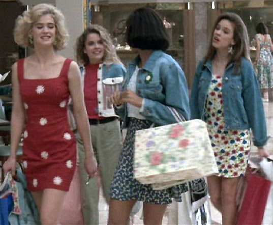 group of popular girls shopping is as essential to teen movies as ...