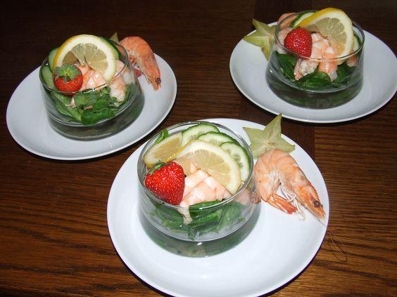 Marinated prawn salad - entrée