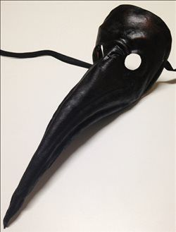Italian leather Plague Doctor mask