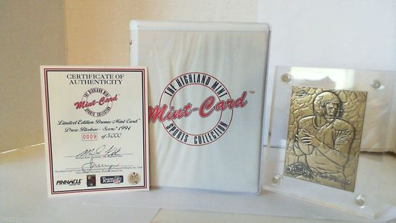 Rare 1994 Drew Bledsoe Bronze Football Card - #9 of 5000 -  Highland Mint W/Case #Pinnacle #NewEnglandPatriots