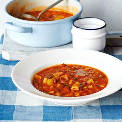 Antonio Carluccio's pasta e fagioli recipe. For the full recipe, click the picture or visit RedOnline.co.uk