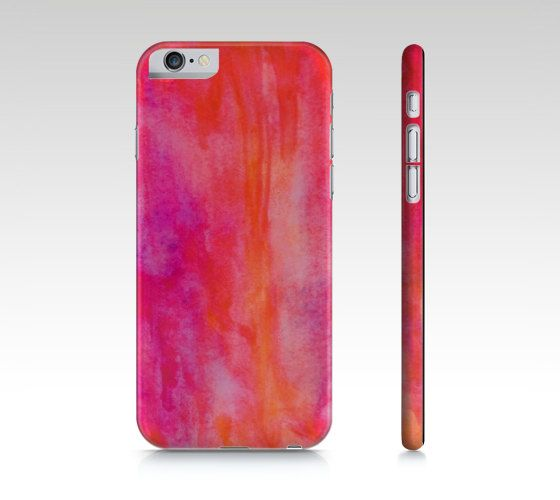 Pink Watercolor Abstract Art Phone case  iPhone 6 by SABartStudio