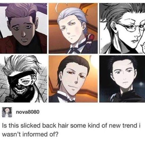 Pin By Mio On Anime Manga Slicked Back Hair Anime Hairstyles Male Slick Hairstyles