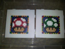 Shroom coasters for my lovely friend Lucy :)