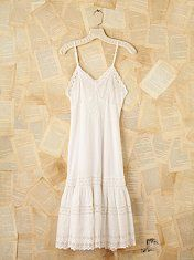 Vintage Eyelet Cotton Maxi Dress