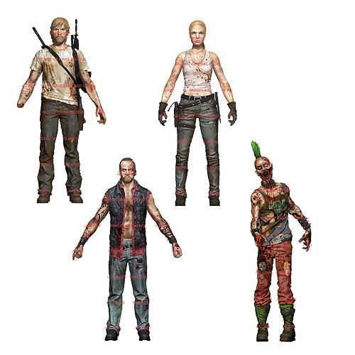 The Walking Dead Figures Comic Series 3 Set Of 4 Rick