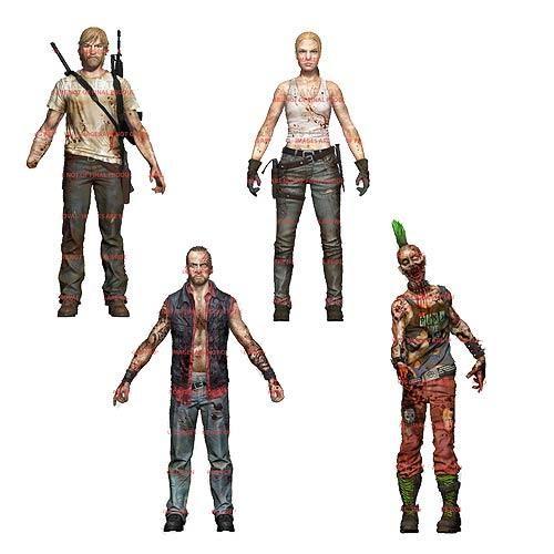 The Walking Dead Figures Comic Series 3 Set Of 4 Rick