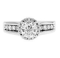 1.50 ct. t.w. Round Cut Framed Diamond Ring