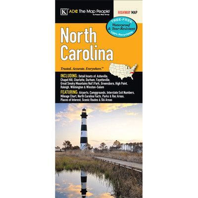 Universal Map North Carolina Laminated Map
