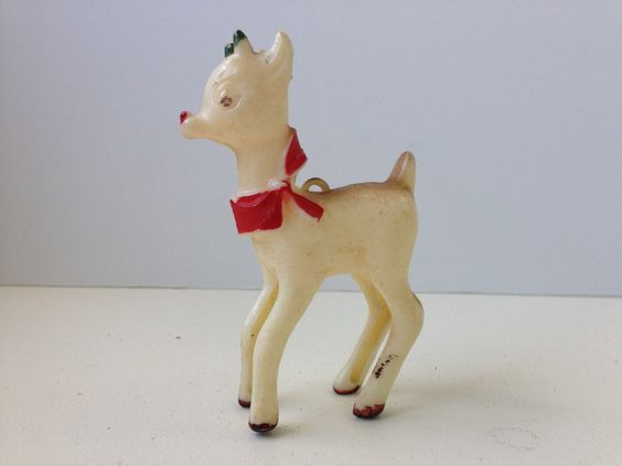 Vintage Plastic Rudolph the Red Nosed Reindeer Ornament by GypsyMouse on Etsy https://www.etsy.com/listing/171694734/vintage-plastic-rudolph-the-red-nosed