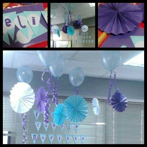 Decoraci n cumplea os oficina frozen angie deco - Ideas decoracion oficina ...