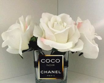 Chanel inspiriert Vase / Chanel Rosen / Blumen von von CandleLandd