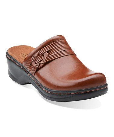 Look at this #zulilyfind! Tan Lexi Redwood Leather Clog by Clarks #zulilyfinds