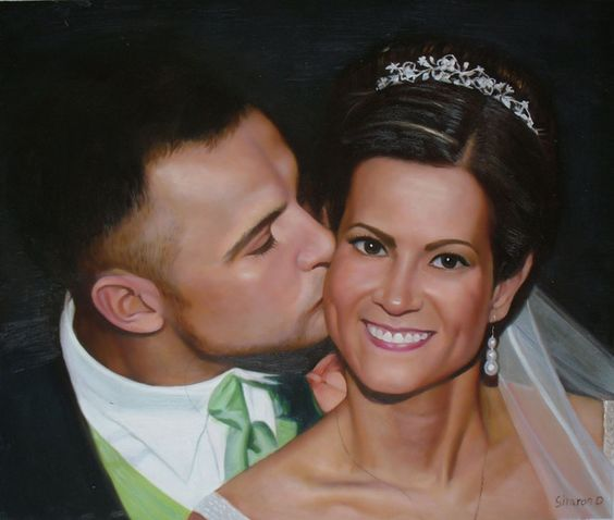 Wedding Portraits | Wedding Paintings | Bridal Portraits.... #wedding #weddingportrait #paint #painting #paintyourlife