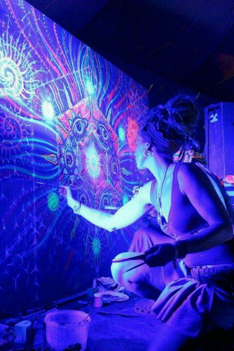 black light flower of life