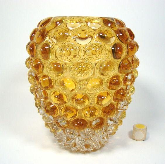 Beautiful Bubble Vase LENTI Vetri d`Arte Seguso Murano Italy ca 1950s-1960s