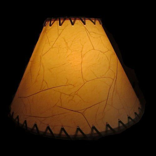 18 Inch Crackled Rustic Lamp Shade Click On Photos For Sizing And