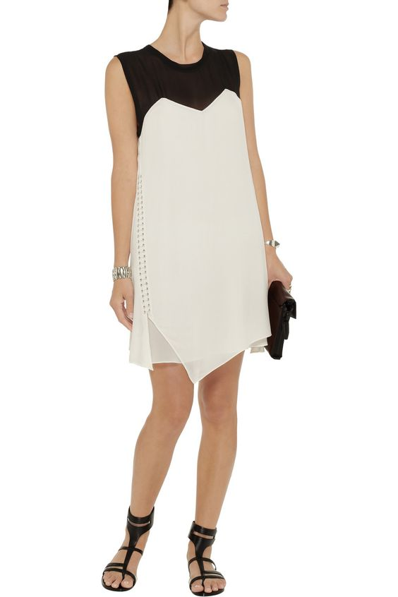 3.1 Phillip LimEmbellished stretch-silk and chiffon dressfront